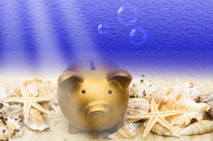 Drowning in Finances Stock Photo