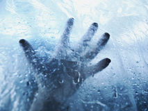 A drowning hand Royalty Free Stock Photography