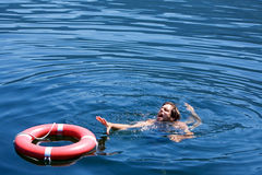 Drowning Man stock image