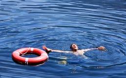 Drowning Man stock photos