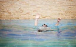 Drowning man royalty free stock image