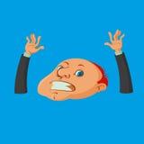 Drowning man cartoon Stock Photos