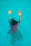 Drowning woman Royalty Free Stock Photography