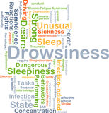 Drowsiness background concept Stock Photography