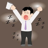 Drowsiness Royalty Free Stock Images