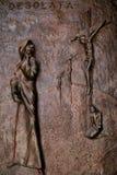 Dörr av kyrkan av förklaringen, Nazareth Arkivbilder