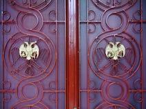 Dörrar för ortodox kyrka Royaltyfri Foto