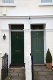 dörrar front två Royaltyfri Fotografi