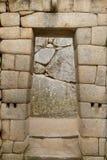 Dörröppning av tempelet av Machu Picchu, Peru Royaltyfria Bilder