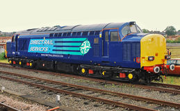 DRS Class 37 Locomotive York England Waiting next duty 2003. DRS Class 37 Locomotive York England 2003 Royalty Free Stock Photography