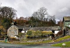 Traditional Cottages at elterwater. COTTAGE AT ELTERWATER Royalty Free Stock Photos