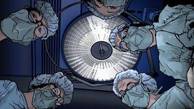 Drużyn lekarki w sali operacyjnej ilustracja wektor