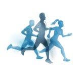 Drużyna aktywni biegacze royalty ilustracja