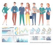 Drużyna Fachowy specjalisty biznes, mapy ilustracji