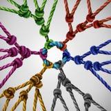 Drużyna Grupuje sieć ilustracja wektor