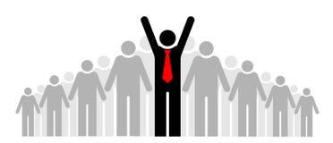 Drużyna lub społeczność Grupa ludzi, swój szef i lider lub ilustracji