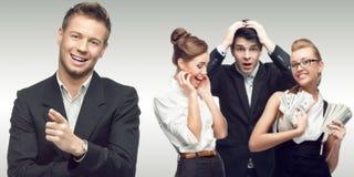 Drużyna młodzi pomyślni ludzie biznesu Fotografia Stock