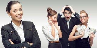 Drużyna młodzi pomyślni ludzie biznesu Zdjęcia Stock