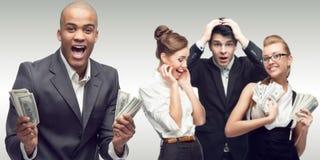 Drużyna młodzi pomyślni ludzie biznesu Obraz Royalty Free