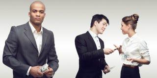 Drużyna młodzi pomyślni ludzie biznesu Fotografia Royalty Free