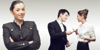 Drużyna młodzi pomyślni ludzie biznesu Zdjęcia Royalty Free