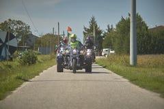 Drużyna motocykliści obraz royalty free