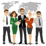 Drużyna pomyślni biznesmeni royalty ilustracja