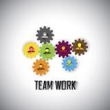 Drużyna & praca zespołowa korporacyjni pracownicy & kierownictwa - pojęcie ve royalty ilustracja