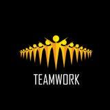 Drużyna, praca zespołowa, społeczność, więź - wektorowy pojęcie royalty ilustracja