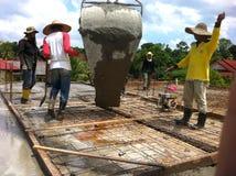 Drużyna pracownicy budowlani obrazy royalty free
