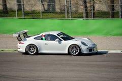 Drużynowa Ebimotors Porsche 911 GT3 filiżanka przy Monza Obraz Royalty Free