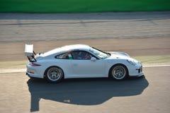Drużynowa Ebimotors Porsche 911 GT3 filiżanka przy Monza Obrazy Royalty Free