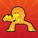 Drużynowa logo bitwy pazurów lwa symbolu sporta maskotka Zdjęcia Royalty Free