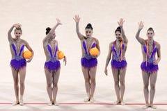 Drużynowe Szwajcaria Rytmiczne gimnastyki obraz royalty free