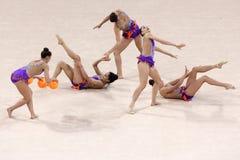 Drużynowe Szwajcaria Rytmiczne gimnastyki zdjęcia royalty free