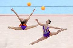 Drużynowe Szwajcaria Rytmiczne gimnastyki obrazy royalty free