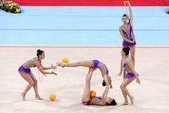 Drużynowe Szwajcaria Rytmiczne gimnastyki obrazy stock