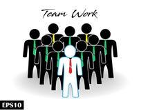 Drużynowi praca biznesmena drużyny tłumu ikony ludzie ilustracji