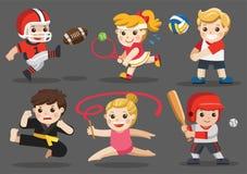 Drużynowi sporty dla dzieciaków ilustracja wektor