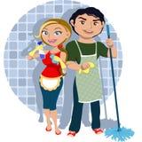 Drużynowy Cleaning fotografia royalty free