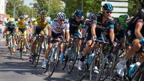 Drużynowy niebo jeździec w Vuelta España Zdjęcia Royalty Free