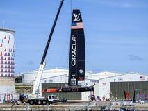 Drużynowy Oracle w America& x27; s filiżanka Bermuda 2017 Zdjęcie Royalty Free