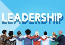 Drużynowy poparcia prowadzenia przywódctwo Wprowadzać na rynek pojęcie Obraz Stock