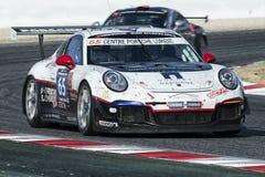 Drużynowy Porsche Lorient Ścigać się Porsche 991 filiżanka 24 godziny Barcelona Obrazy Stock