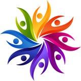 Drużynowy praca logo royalty ilustracja