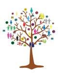Drużynowy pracy drzewo Zdjęcia Stock