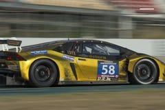 Drużynowy Sportec Motorsport Lamborghini Huracà ¡ n GT3 24 godziny Barcelona Zdjęcie Royalty Free