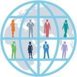 drużynowych zasobów światów biznesowi globalni ludzie ilustracji