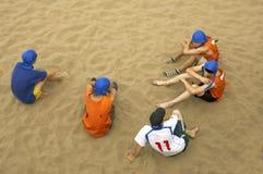 drużyny piłkarskiej Fotografia Royalty Free