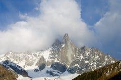 Dru Peak view. Dru Peak, Aiguilles du Chamonix, Mont Blanc Massif, Alps, Chamonix, France royalty free stock photos